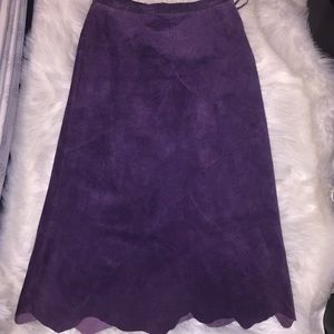 Terry Lewis purple 100% leather skirt. Size 14.